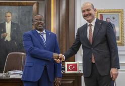 Cibuti İçişleri Bakanı Moumin Ahmed Cheickten Bakan Soyluya ziyaret