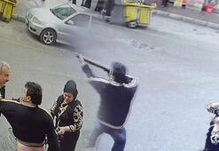 Eşinin çantasından çıkardığı tüfekle, ateş açtı