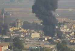 Rasulayn kırsalındaki terör mevzilerinden duman yükseliyor
