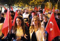 Barış Pınarı Harekatına destek için yürüdüler