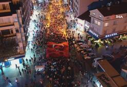Bolu'da yüzlerce kişi Barış Pınarı Harekatı'na destek için yürüdü