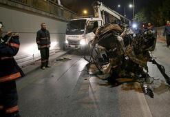 Ankarada şok görüntü Hurdaya döndü