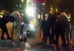İki kadının saç saça baş başa kavgası kamerada