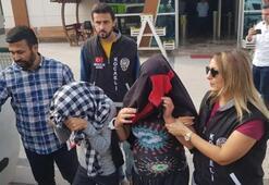 Hırsızlık kadınların sesini duyan ev sahibi yakaladı