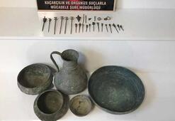 Kırşehirde Bizans dönemine ait küp ve tabak ele geçirildi