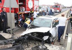 Tekirdağdaki kazada baba öldü, oğlu yaralandı