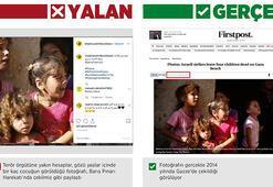 Harekat aleyhine savaştan etkilenen çocukların fotoğraflarıyla manipülasyon