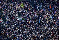 Dünyanın gözü buradaydı Avrupanın göbeğinde tam 1 milyon kişi yürüdü