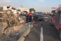 Mardinde zincirleme trafik kazası