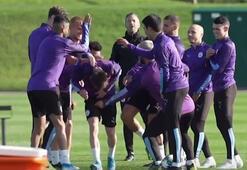 Manchester City antrenmanından renkli görüntüler