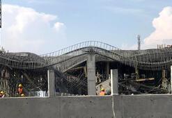 Yapımı devam eden hastanenin ek bina inşaatında çökme yaşandı