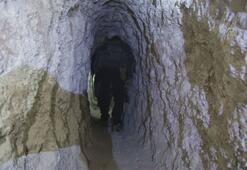 Tel Abyadda YPG/PKKlıların kazdığı tüneller ortaya çıkarıldı