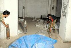 Tel Abyadda, teröristlerin havan ve roket deposu tespit edildi