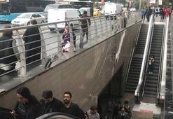 Şişli-Mecidiyeköy Metro İstasyonunda intihar girişimi