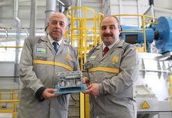 Türkiyede ilk kez alüminyum motor bloku için test üretimi başladı