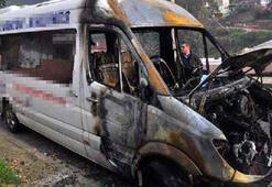 Anamur'da 4 araç kundaklandı