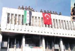 Belediyeye Türk bayrağı