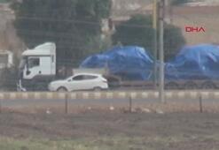 Suriyeden Iraka giden konvoy, Nusaybinden görüntülendi