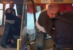 Kadın yolcuyu korumak isterken otobüs sürücüsünden dayak yedi