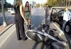 Yaralanan gençle ilgilenmek yerine otomobilini kontrol etti