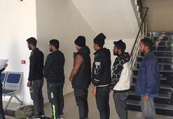 Gaziantepte 7 düzensiz göçmen yakalandı