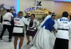 Judo müsabakası gibi düğün