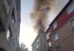Esenyurtta 5 katlı binada yangın paniği