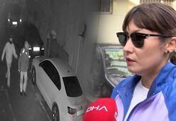 Beşiktaşta motosikletin çalınma anı kamerada