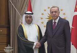 Cumhurbaşkanı Erdoğan, Katar Başbakanını kabul etti