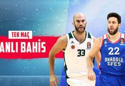 Panathinaikos – Anadolu Efes canlı bahis heyecanı Misli.comda