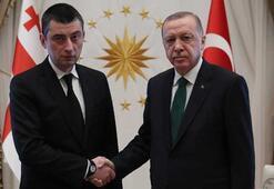 Cumhurbaşkanı Erdoğan, Gürcistan Başbakanı Gakhariayı kabul etti