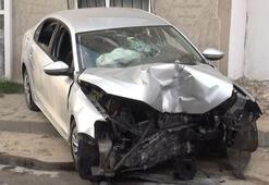 Misafirliğe gelen dayısının otomobilini kaçırıp kaza yaptılar