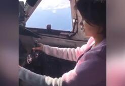 Uçakta 50 yolcu vardı kimseyi düşünmedi Sevgilisini kokpite aldı