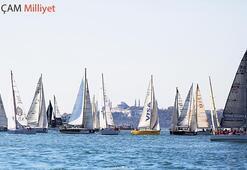 Boğaz'da yelken heyecanı