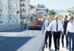 Belediyenin yol calışmaları tam gaz