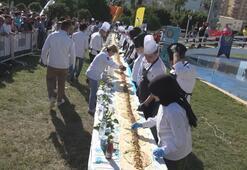 Aşçılık öğrencilerinden 33 metrelik tantuni