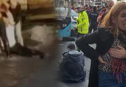 Beşiktaşta durağa dalan şoförün videosu ortaya çıktı: Öldürün beni