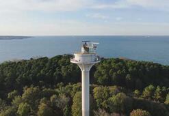 İstanbul Boğazındaki elektro optik sistem havadan görüntülendi