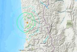 Şilide 6 büyüklüğünde deprem