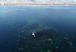İstanbulda depremlerle battı Vordonisi Adası havadan görüntülendi