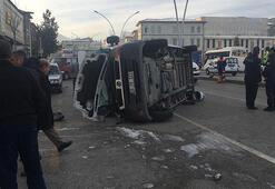 Cezaevi servis aracı ile minibüs çarpıştı: 6 yaralı