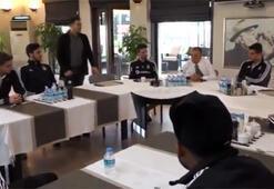 Ahmet Nur Çebi, futbol takımıyla kahvaltıda buluştu