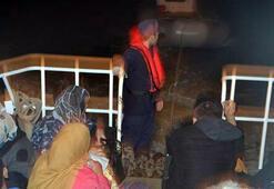 Havadan tespit edilen kaçak göçmenler yakalandı