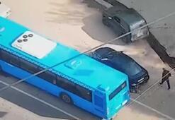 Sol şeritteki otobüs sayesinde soyulmaktan kurtuldu
