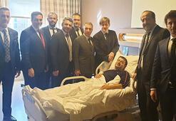 Çebiden ameliyat edilen yönetici Torunoğullarına ziyaret