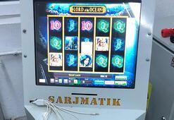 Şarjmatik görünümlü kumar makinesine el konuldu