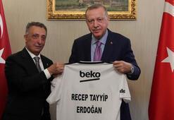 Cumhurbaşkanı Erdoğan, Beşiktaş Kulübü Yönetim Kurulunu kabul etti