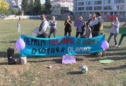 Bakırköyde davullu zurnalı saha protestosu