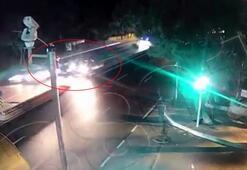 Sarıyer'de yürekleri ağza getiren kaza kamerada