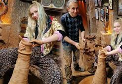 Aleyna Tilki, Kapadokyada çömlek yaptı